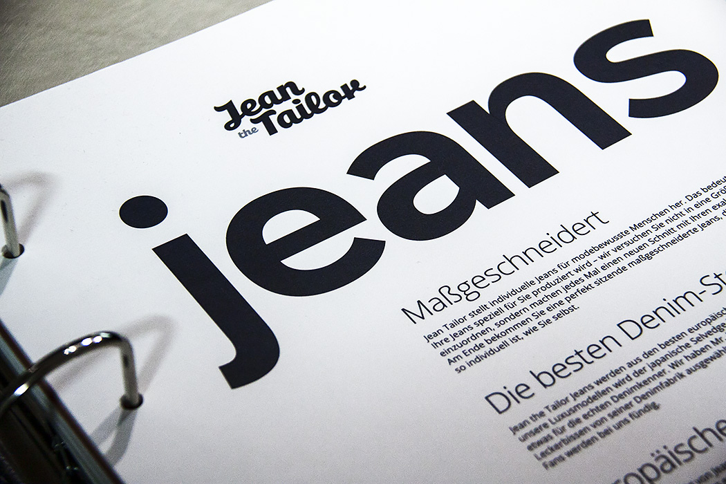 Jean the Tailor Catalogue Print Design