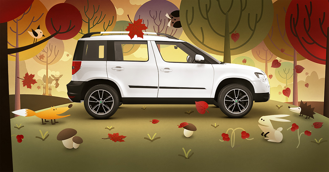 SKODA Yeti illustration